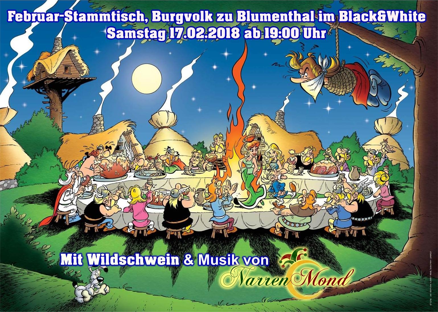 Februar-Stammtisch des Burgvolkes zu Blumenthal